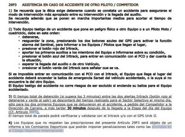 Sainz, Cruz y Peugeot explican a los comisarios el incidente