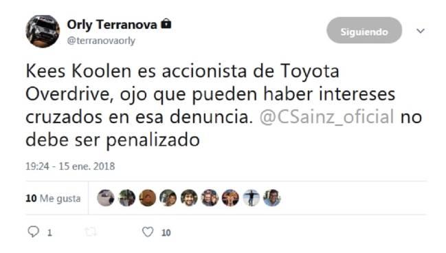 """Terranova señala a Koolen: """"Es accionista de Toyota Overdrive"""""""