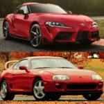 Comparación visual: Juzga tú mismo cuánto ha evolucionado el Toyota Supra en 25 años
