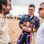 Carlos Sainz en la presentación en Arabia, pero no sabe si correrá