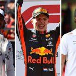 Así va el podio que elige la F1: Verstappen, Hamilton y Sainz