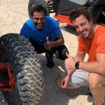 Alonso se entrena en Qatar con el último campeón del Dakar