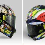 Rossi cambia el sol y la luna del casco por la piadina y la sandía