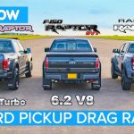 [Vídeo] Ford F-150 Raptor V6 vs. F-150 Raptor V8 SVT vs. Ranger Raptor: Pelea de titanes