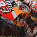 Márquez probó el freno trasero de mano en la Honda