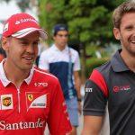 Grosjean revela cómo fue la 'espantada' de Vettel