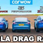 [Vídeo] Tesla Model S Performance vs. Model X P100D vs. Model 3 Performance: ¿Resultado inesperado?
