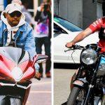 Hamilton-Vettel: duelo en moto