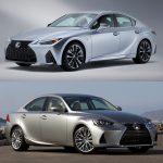 Comparación visual Lexus IS 2020: ¿Qué te parecen los cambios introducidos en el sedán?