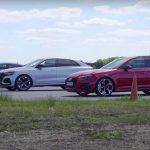 [Vídeo] Audi RS Q3 vs. RS 4 Avant vs. RS Q8: ¿El tamaño importa?
