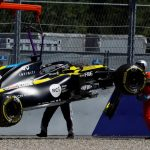 Accidente duro de Ricciardo en la pole virtual de Verstappen
