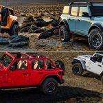Comparación visual: ¿Eres más de Ford Bronco o de Jeep Wrangler?