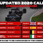 Mundial F1 2020: calendario de carreras de la temporada de Fórmula 1