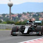 Sobrada de Hamilton con el neumático duro en Hungría