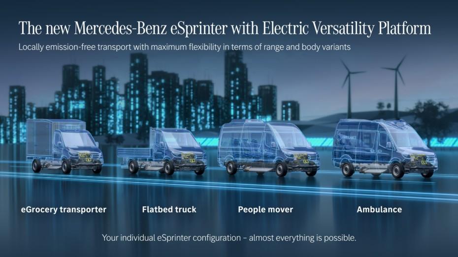 Mercedes-Benz Vans anuncia una nueva plataforma para «furgos» eléctricas: desde ambulancias hasta transporte de pasajeros