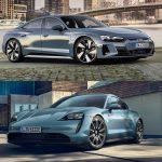Comparación visual Audi e-tron GT vs. Porsche Taycan: ¿Por cuál de los dos «hermanos» apuestas?