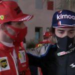 """Sainz a Alonso: """"C..., buena 'quali' para llevar dos años parado"""""""