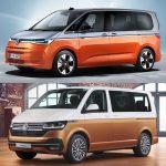 Comparación visual Volkswagen Multivan 2021: ¿Te parece un cambio a mejor?
