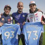 Los Márquez, invitados de lujo en el entrenamiento del City
