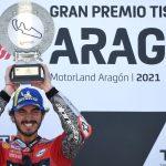 """Bagnaia: """"Quiero abrazar a Rossi después de este triunfo"""""""